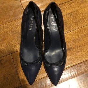 Lauren Ralph Lauren Navy Heel Size 8 1/2